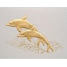 Dolphins Gold Embossed