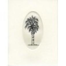 SCRIMSHAW, NOTE CARD PALMETTO TREE