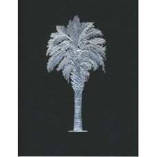 Palmetto Tree Black/silver emboss