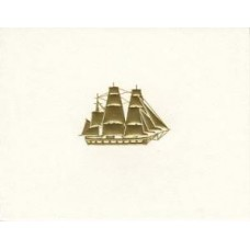 Clipper Ship Gold Embossed