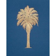 Palmetto Tree Blue/ gold embossed
