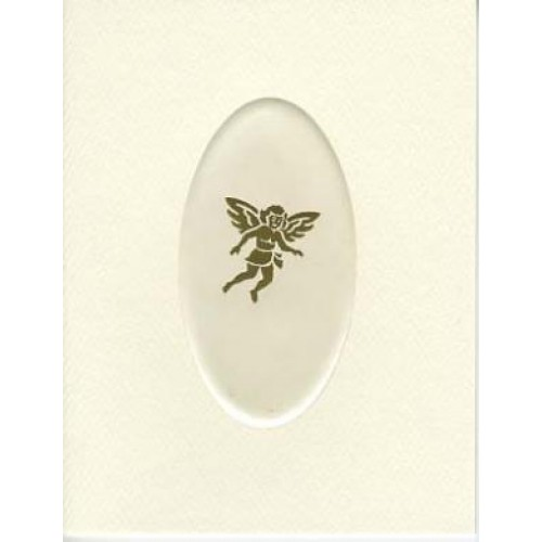 RELIGIOUS NOTE CARD GOLD ANGEL