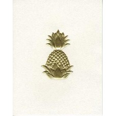 South Carolina Note Card Gold Embossed Pineapple