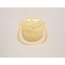 Nantucket Lightship Basket Gold Embossed