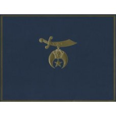 Shriners Award Certificate Holder Blue Or Red  W/Gold  Shriners Symbol