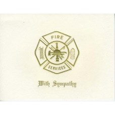 Fire Maltese Cross With Sympathy Card