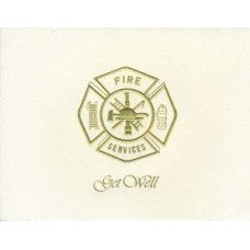 Fire Maltese Cross Get Well Card
