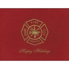 Fire Maltese Cross Happy Holidays Card