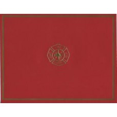 Fire Maltese Cross Award Certificate Holder