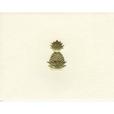 South Carolina Note Card Gold Pineapple