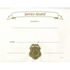 POLICE AWARD CERTIFICATE GOLD OR SILVER