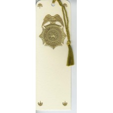 Fire Services Badge Bookmark