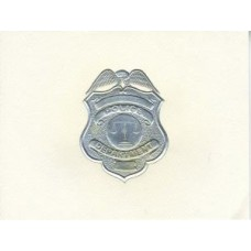 Police Note Card Silver Badge