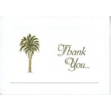 South Carolina Thank You Card Small Palmetto Tree