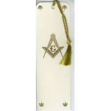 Masonic Bookmark Gold Embossed