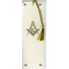 Masonic Bookmark Gold Embossed