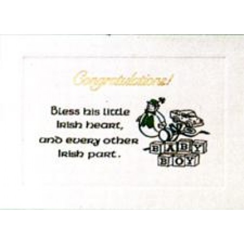 IRISH,BABY BOY CONGRATULATIONS CARD