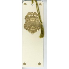Police Bookmark Gold Embossed
