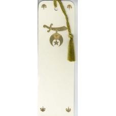 Shriners Bookmark Gold Embossed