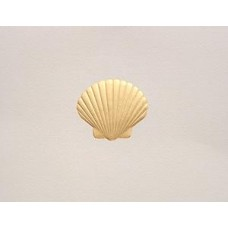 Scallop Shell Note Card Gold Embossed