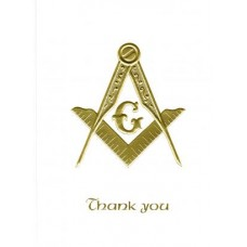 Masonic Thank You Card Gold Embossed
