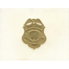 Police Note Card Gold Badge