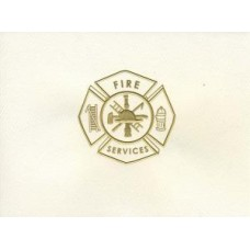 Fire Maltese Cross Note Card