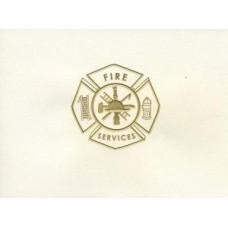 Fire Maltese Cross Note Card