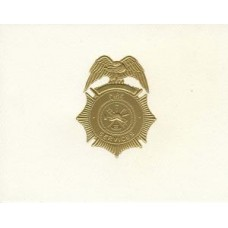 Fire Services Badge Note Card