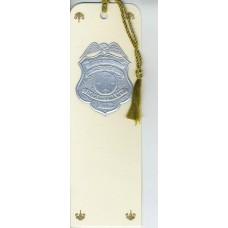 Police Bookmark Silver Embossed