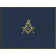 MASONIC AWARD CERTIFICATE HOLDER BLUE
