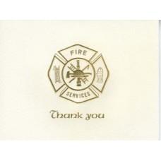 Fire Maltese Cross Thank You Card